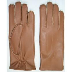 R372 Rękawiczki skórzane damskie wyjściowe.