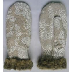 """Art. 14240115 Rękawiczki skórzane """"łapki"""" zimowe, damskie"""