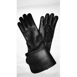 Rękawice skórzane z mankietami - MUSZKIETERKI