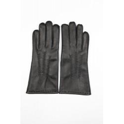 Art. R162 Rękawiczki skórzane damskie, ręcznie szyte