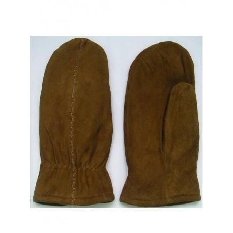 "Full grain leather gloves ""feet"" winter, ladies."